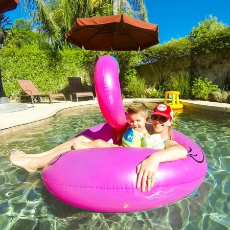 Enjoying the house we rented in Scottsdale