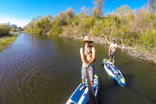Paddle boarding the Russian River