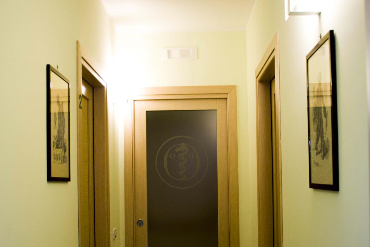 Corridoio dell'osteopathic clinic