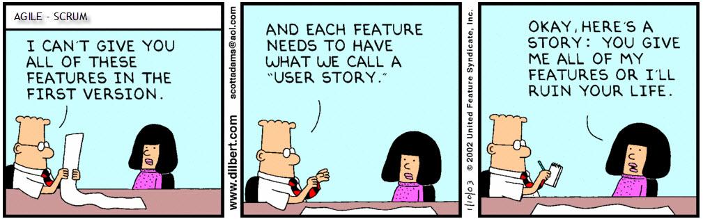 Dilbert: user stories