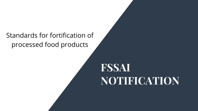 FSSAI Notification