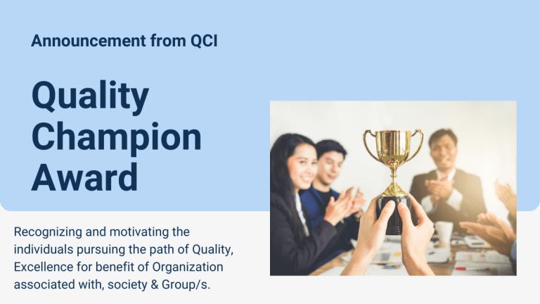 Quality Champion Award