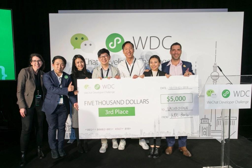 Global WeChat Developer Challenge - Value China sul podio