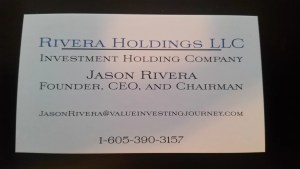Rivera Holdings LLC Business Card