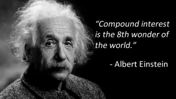Albert Einstein Quote on compounding interest