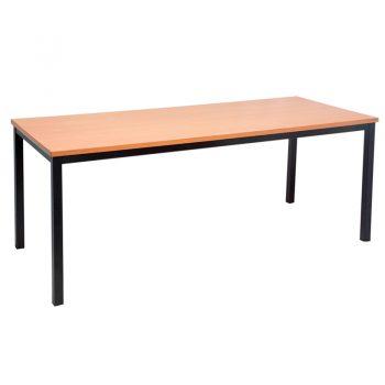 Barron Steel Framed Table, Beech Top