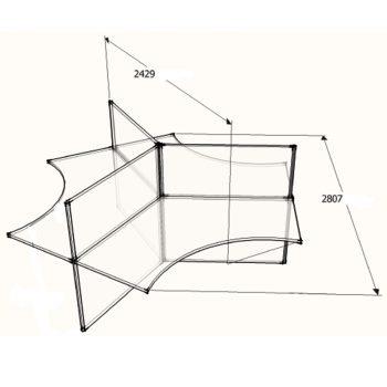CAD Drawing Smart 3 Way Desk