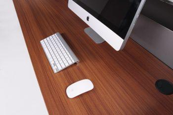 Teak Melamine Desk Top