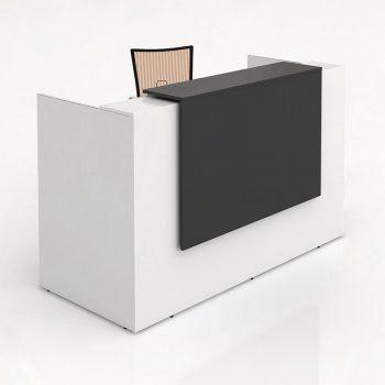 Rosalie White Gloss Reception Desk