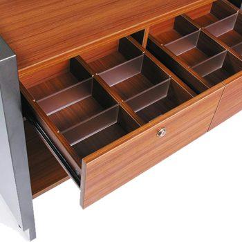 Una Compact Reception Desk, Drawer Detail