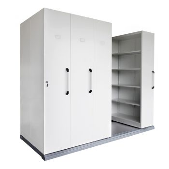 Core Mobile Sliding Storage Unit, 4 Bay