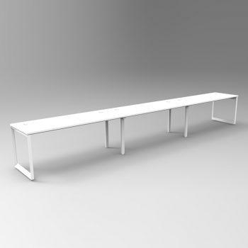 3 Person In-Line desk