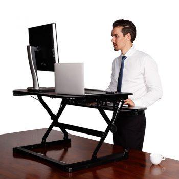 Move Desk Top Height Adjustable Stand, black