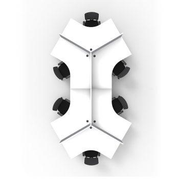 Smart 6 desk Pod, Top View