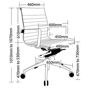 Kew Medium Back Chair, Sizes