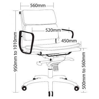 Toorak Low Back Chair, Sizes