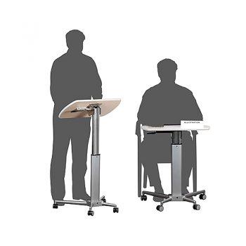 Height Adjustable Mobile Lectern or Desk