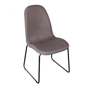 Adele Chair, Chocolate Fabric