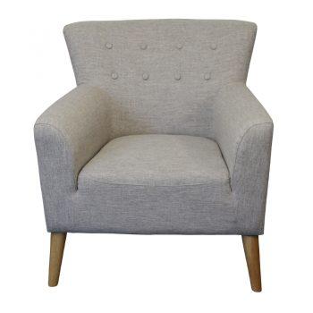 Gina Chair, Sepia Fabric