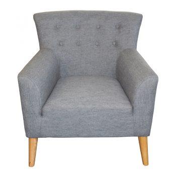 Gina Chair, Slate Fabric
