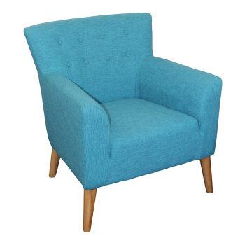 Gina Chair, Teal Fabric