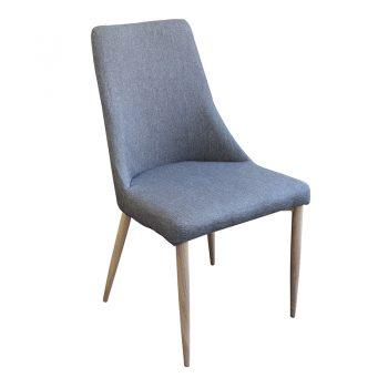 Rosa Chair, Charcoal Colour Fabric