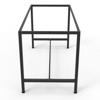Barron Steel High Bar Table Frame - No Top, End View