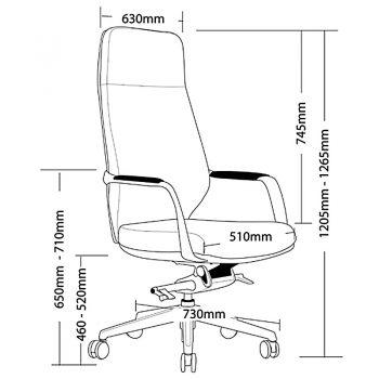 CBD High Back Chair Dimensions