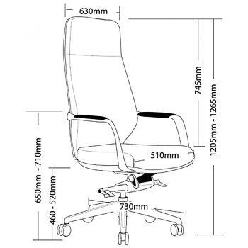 Jagger High Back Chair Dimensions
