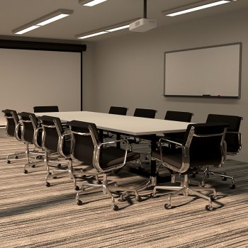 Kennedy Meeting Table And Luxe Chair Package