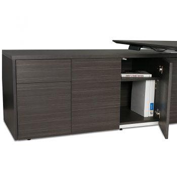 Elite Electric Height Adjustable Desk with Left Hand Storage Cupboard, Detail
