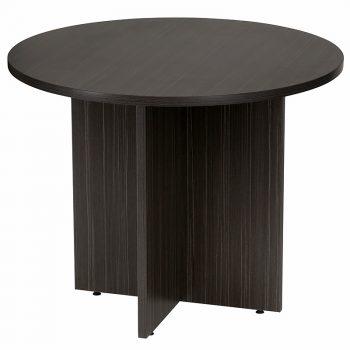 Dark Round Meeting Table