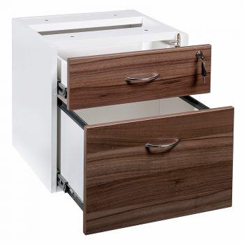 Walnut office drawers