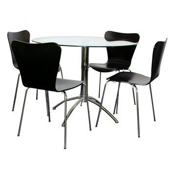 Jose Black Chairs, Elena Table