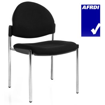 Juni 4 Leg Curved Back Visitor Chair without Arms