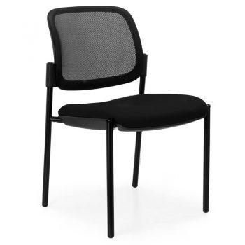 Juni Mesh Back Chair, Black 4 Leg Frame, no Arms