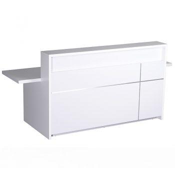 Gloss white reception desk
