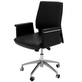 Croydon Medium Back Chair, Left Front Angle View