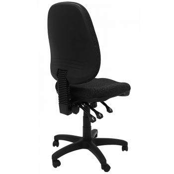 Oxley High Back Chair, Charcoal Fabric, Rear View