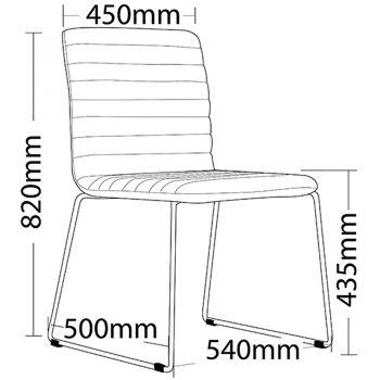 Lava Chair, Dimensions