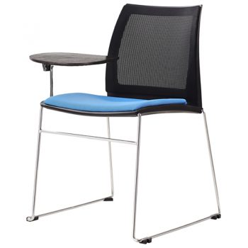 Rift Mesh Back Chair with Tablet Arm and Optional Upholstered Seat Pad