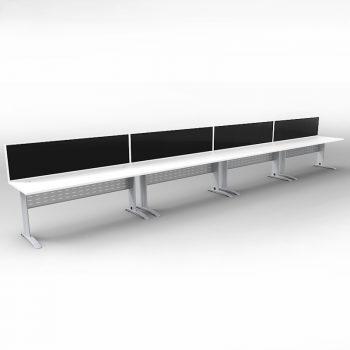 4 desks wih dividers