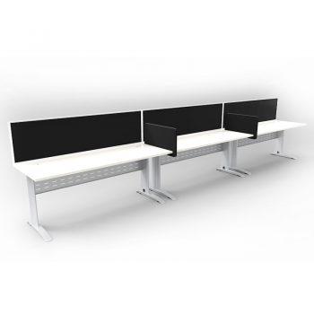 Smart Desks Fitted with Optional Modular Slide-On Desk Dividers