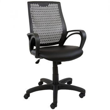 Nikki Office Chair, Black Vinyl Seat