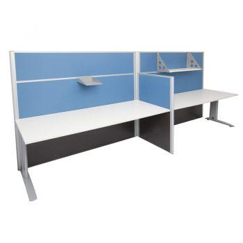 Smart In-Line Desks Blue Screen Dividers - 1650mm and 1250mm