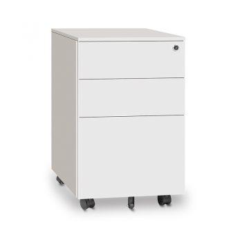 Monaco Metal Mobile Drawer Unit, White