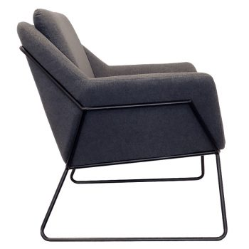 Beta Chair, Charcoal, Side View