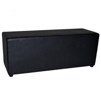 Black 2 seat ottoman