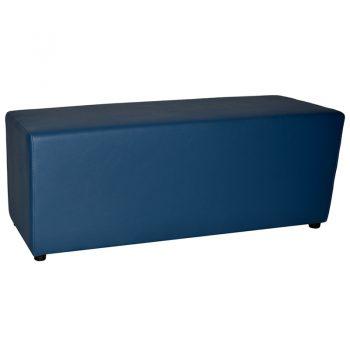Buddy Large Ottoman, Blue Vinyl