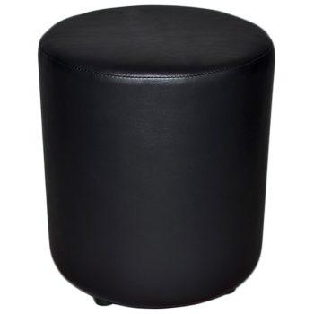 Black round ottoman